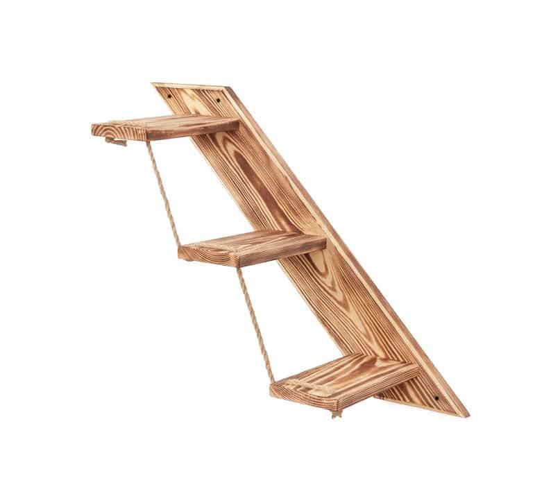 escalier bois massif 3 marches