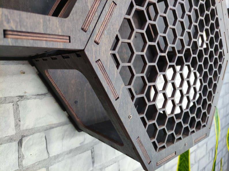 hexagone mural nid abeille