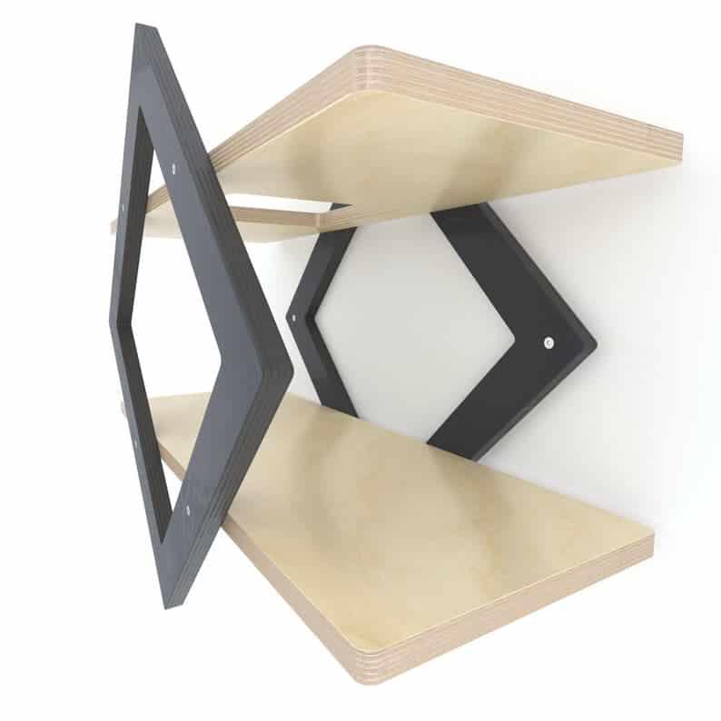 tablette en structure hexagonale