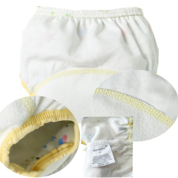 Cotton Reusable Baby Training Pants Infant Shorts Underwear Cloth Diaper Nappies Baby Waterproof Potty Training panties 12