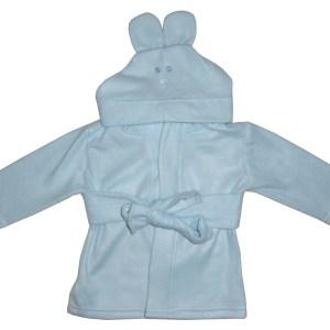 Bambini Fleece Robe With Hoodie Blue