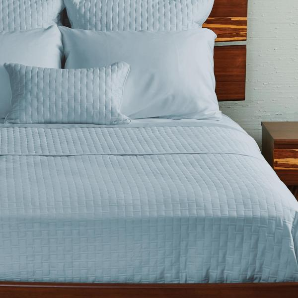 Bamboo Quilted Coverlet Sky ai1 3