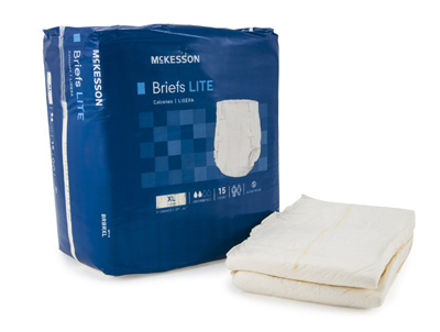 Adult Incontinent Brief McKesson Lite Tab Closure X-Large Disposable Light Absorbency - BRBRXL