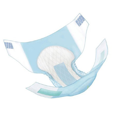 Covidien Wings Adult Incontinent Brief Tab Closure X-Large Disposable Heavy Absorbency - Covidien 63065 - Case of 60