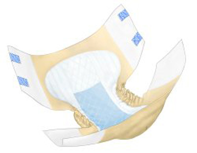 Covidien Wings Adult Incontinent Brief Tab Closure X-Large Disposable Heavy Absorbency - Covidien 66035 - Case of 60