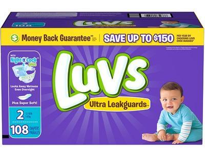 Luvs BIG PACK Size 2 - 108ct/1pk