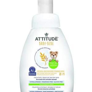 Attitude Sensitive Skin BABY 2in1 Hair and Body Foaming Wash - 8.4oz/6pk