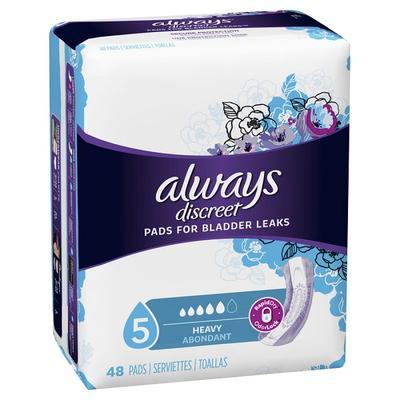 Always Discreet Heavy Absorbency Pads - 48ct/3pk