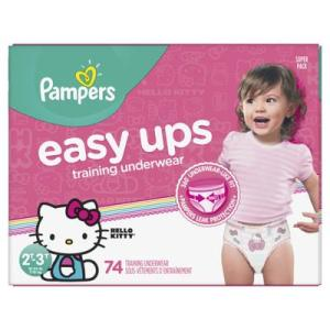 Pampers SUPER GIRLS EASY UPS 2T-3T size 4 - 74ct/1pk