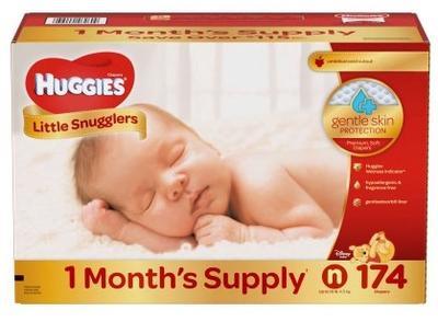 HUGGIES Little Snugglers New Born - 174ct/1pk