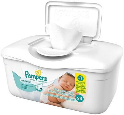 Pampers Wipes TUB Sensitive - 64ct/8pk