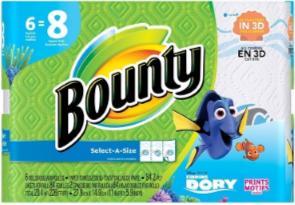 Bounty BIG ROLLS SAS Dory Print - 84ct/6pk