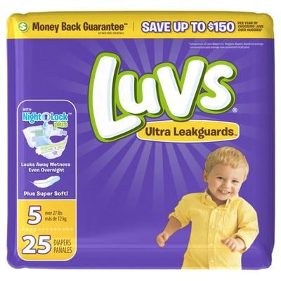 Luvs Ultra Leakguards Diapers Size5 - 25ct/4pk