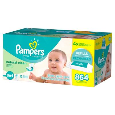 Pampers Baby Wipes NATURAL CLEAN 12XS/BAE - 864ct/1pk