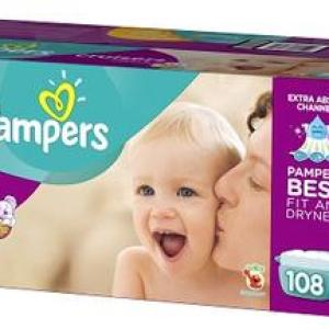 Pampers Cruiser Econ Size 5 - 108ct/1pk