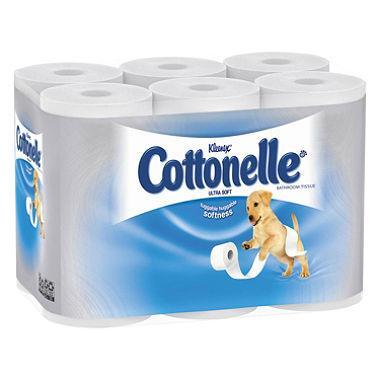 Cottonelle Clean Care Bath Tissue 4 Double Rolls 190 ct - 6pk