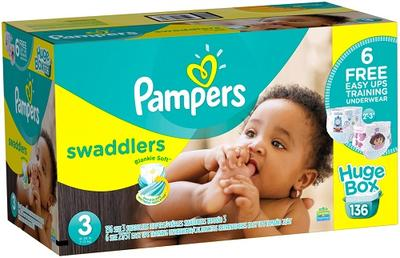 Pampers Swaddlers Econ Size 3 - 136ct/1pk