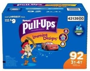 Huggies PULL UPS Girls 3T-4T - 92ct/1pk