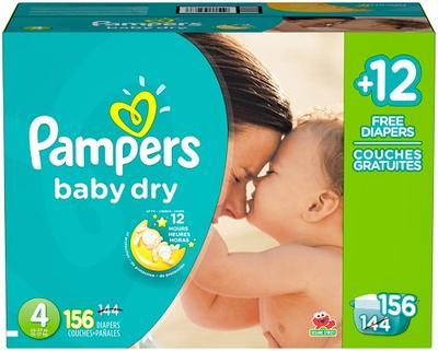 Pampers Baby-Dry ECON BONUS Size 4 - 156ct/1pk