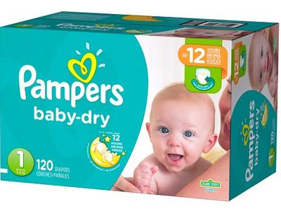 Pampers Baby Dry SUPERPACK size 1 - 120ct/1pk