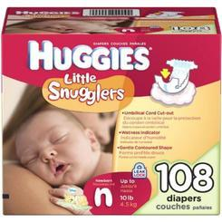 HUGGIES Little Snugglers New Born - 108ct/1pk
