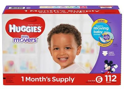 HUGGIES Little Movers Size 6 - 112ct/1pk