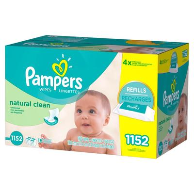 Pampers Baby Wipes NATURAL CLEAN 16XS/BAE - 1152ct/1pk