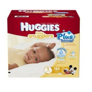 HUGGIES Plus Diapers Size 1 up to 14lbs - 192ct/1pk