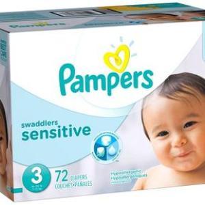 Pampers Super Pack Swaddlers SENSITIVE Size 3 - 72ct/1pk
