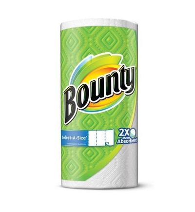 BOUNTY MEGA Rolls Select-a-Size - 12pack WHITE(106-2ply)