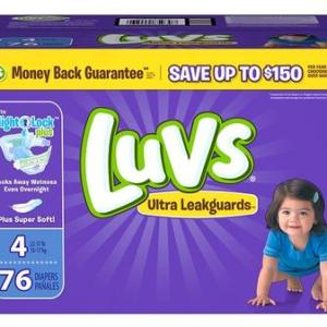 Luvs Ultra Leakguards Diapers BOX Size#4 - 76ct/1pk