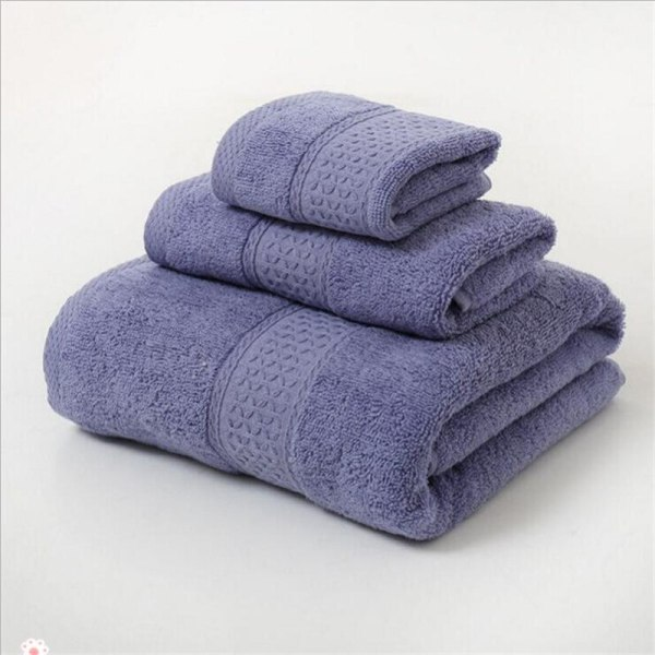 12 Colors 3 Pcs Cotton Absorbent Face Hand Bath Towel Sets Thick Bathroom Towels Cotton Adults 2
