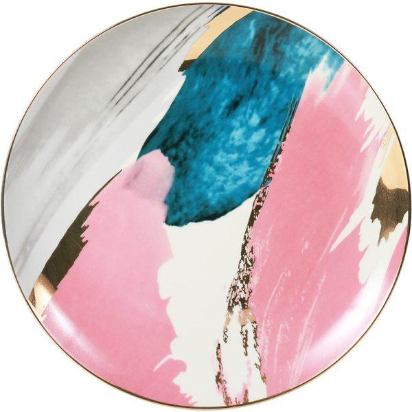 1pcs dinnerware Watercolor painting cloud 8 10 inch Ceramic Plate dinner ceramic porcelain cake plate snack 4