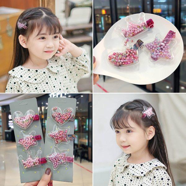 2020 New Sequin Quicksand Princess Hairpin Girls Children Kids Hair Clips Barrettes Accessories Hair Ornament Hairclip 4