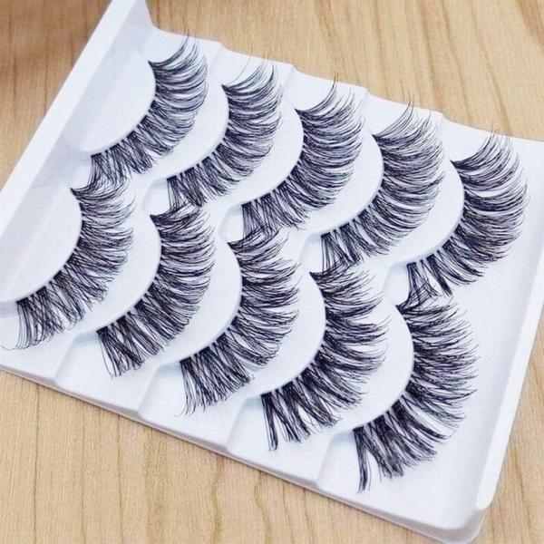 5 pairs 3D Natural Multi Layer Long Eye Lashes hand made fake eyelashes 3D Reusable lashes 1