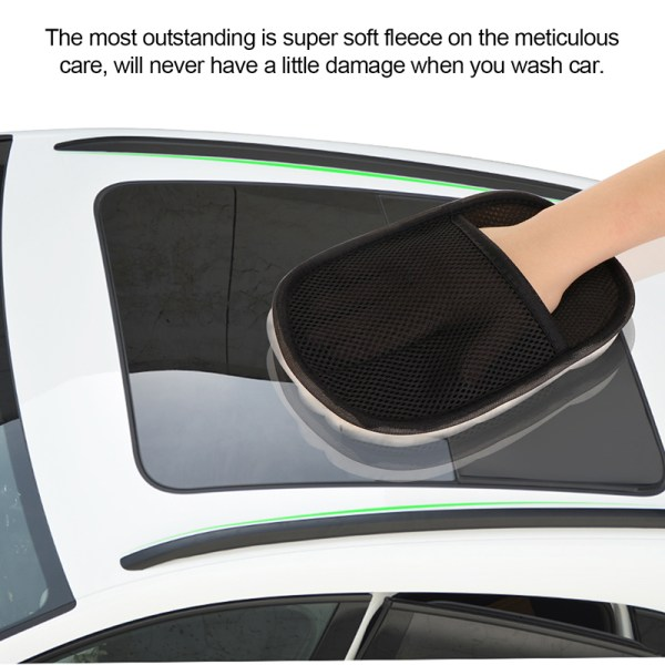 Car Styling 15 24cm Automotive Car Cleaning Gloves Car Brush Cleaner Wool Soft Car Washing Cleaning 3