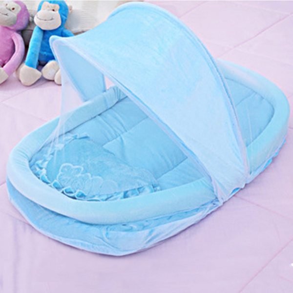 New Wel selling Baby Bed Portable Folding Mosquito Mesh Net Crib Child 4