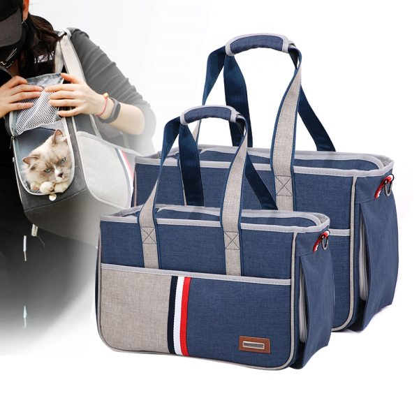 Pet Outdoor Carrier Bag Breathable Cat Small Dog Handbag Oxford Cloth Pet Carrier Bag With Mesh