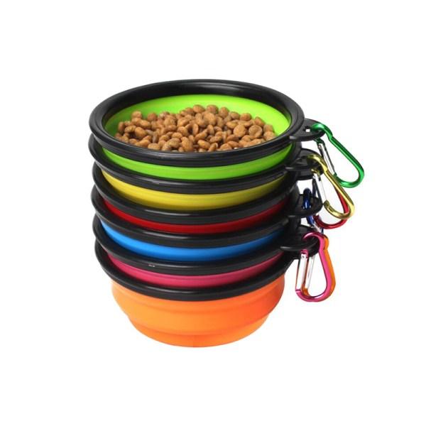Pet Soft Dog Bowl 1PC Folding Silicone Travel Bowl For Dog Portable Collapsible Folding Dog Bowl