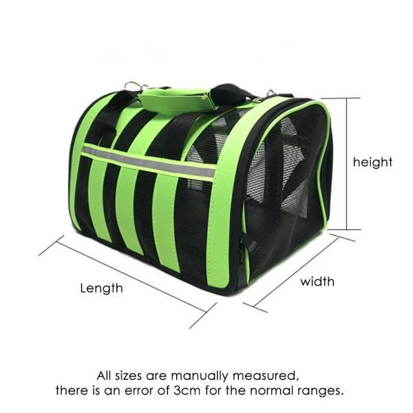 Pets Bag Dual use Foldable Breathable Mesh Cat Bag Dog Bag Outdoor Portable Handbag Breathable Pet 2
