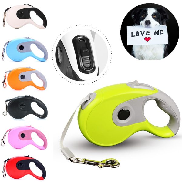 Roulette For Retractable Dogs Leashes Auto 3M 5M 8M Cats Dog Collar Lead Puppy Nylon For
