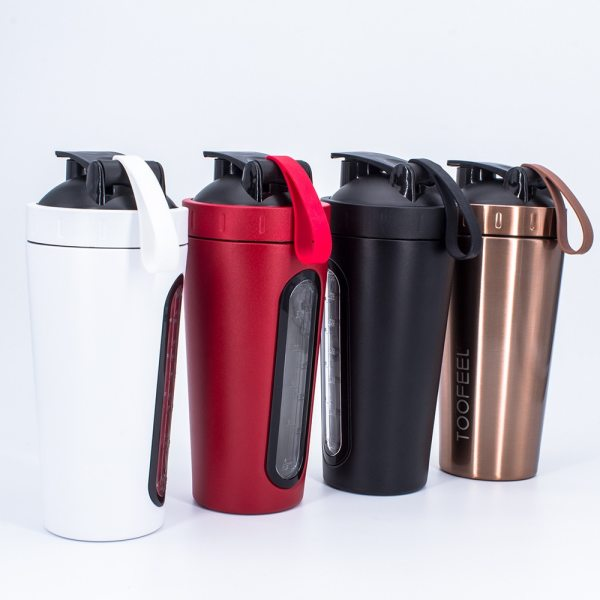 700ml Creative Stainless Steel Protein Shaker Shake Milkshake Mixing Cup Outdoor Sports Fitness Shake Cup Sport