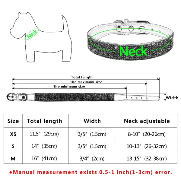 Bling Rhinestone Puppy Cat Collars Adjustable Leather Bowknot Kitten Collar For Small Medium Dogs Cats Chihuahua 5