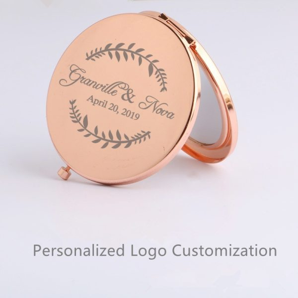 Personalized Bridal Shower Gifts For Guests Customized Make Up Mirror Wedding Favor With Bride Groom Name