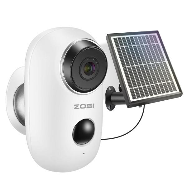 ZOSI Rechargeable Battery Powered IP Camera Solar Power Charging 720P 1080P HD Outdoor Wireless Security WiFi