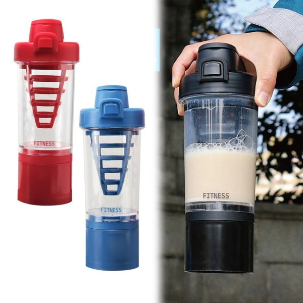 New 500ML sports outdoor fruit juice kettle Protein Shaker cup Non Toxic Wide Mouth 100 Leak