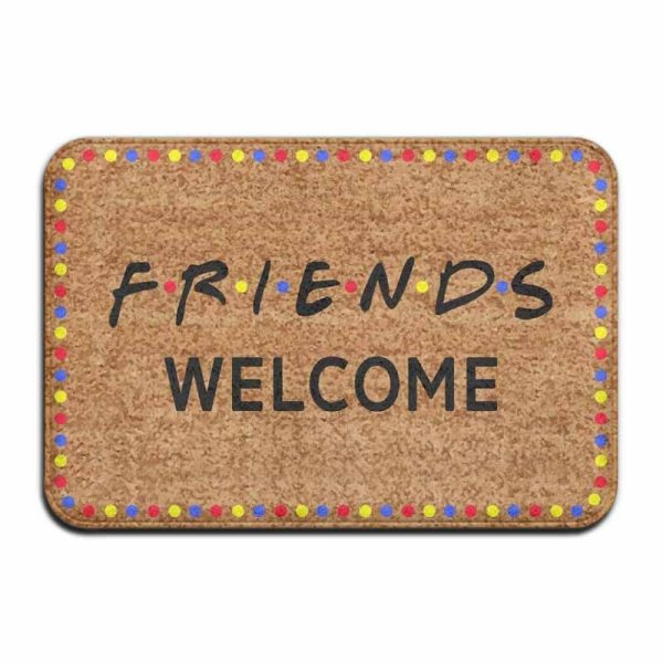 Friends Welcome Vintage 15 7 X 23 6 In Absorbent Non Slip Floor Rug Coral Carpet