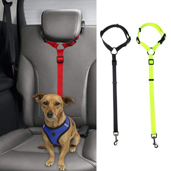Pet Dog Collar Pets Dog Seat Adjustment Belt Car Safety Puppy Dog Chest Belt Collar Perro