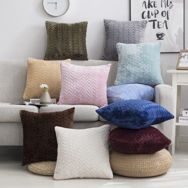 Pillow Cover 45 45 Square Decorative Pillows Home Decor Velvet Cushion Cover For Living Room Bedroom