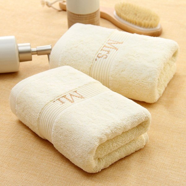 2pcs 90g 35 75cm White Cotton Face Hand Towel Wedding Honeymoon Holiday Gift Absorbent Hotel Salon